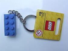 Lego Blue (size 2 x 4) brick KEYRING - 850152