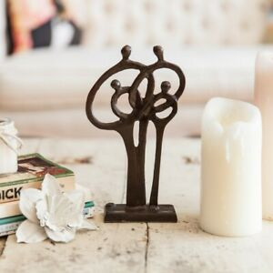 Family of 4 Ring of Love Cast Bronze Indoor Decor
