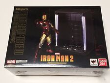 BANDAI MARVEL LEGENDS S.H.FIGUARTS IRON MAN MK 6 + HALL OF ARMOR SET BRAND NEW.