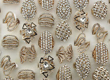 43pcs Mixed Style Lots Charme strass creux Parti Lady's Gold P Anneaux EH314