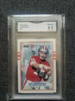 1989 Topps Joe Montana #12 HOF San Francisco 49ers Gem NM MT GMA Graded LOOK!!