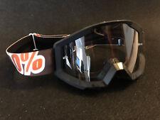 MX Brille 100% Strata Klar Motocross Enduro Downhill Mandarin