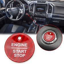 Red Carbon Fiber Keyless Engine Push Start Button Sticker For Ford F-150 Raptor