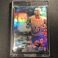 MICHAEL JORDAN 1991 UPPER DECK MVP HOLOGRAM BLANK BACK INSERT BULLS NBA MJ