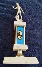 Vintage Girls Soccer Trophy 12 Inch 1980 Blue Plastic Award Prop Futbol Craft