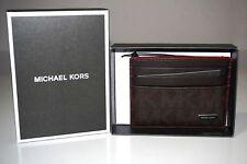 Michael Kors Men's Jet Set Signature Brown Tall Logo Card Case