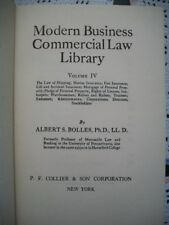 Modern Business Commercial Law Library Vol IV (Albert S. Bolles, 1935 Hardcover)