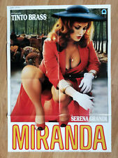 TINTO BRASS Miranda - rare German 1-sheet poster 1985 SERENA GRANDI