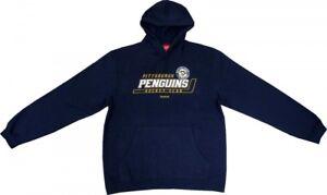 Pittsburgh Penguins Reebok NHL Face Off Dasherboard Blue Sweatshirt