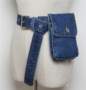 Adjustable Denim Female Belt Waist Pack Phone Pouch Bum Bags Hip Pack For Women