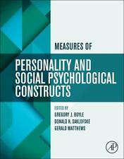 MEASURES OF PERSONALITY AND SOCIAL PSYCHOLOGICAL CONSTRUCTS - NEW PAPERBACK BOOK