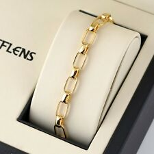 "Men's/Women Bracelet 18K Yellow Gold Filled Charms Chain 8"" Link Fashion Jewelry"