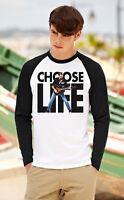 GEORGE MICHAEL Choose Life Women Men Long Sleeve T-Shirt Unisex Raglan Top