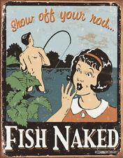 Schonberg - Fish Naked Tin Sign - 12x16