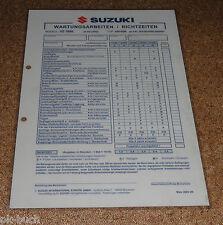 Inspektionsblatt Suzuki VZ 1600 Typ VNT60B Baujahr 2004