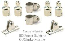 "1"" HD range boat canopy concave hinge frame fittings kit sprayhood binimi cover"