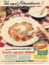 PUBLICITE ADVERTISING 0314   1956   MILLIAT  FRERES    raviolitos