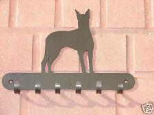 Doberman Pinscher Leash Rack Hat Key Coat Hook Wall K9