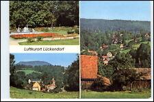 LÜCKENDORF Mehrbild-AK 3 farbige Echtfoto-Ansichten ua. Park und Berg Hochwald