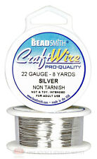 Silver 22GA Round Craft Wire Jewelry Beading Wrapping Jump Rings 8 Yds