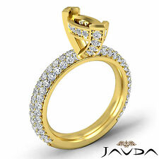 Diamond Engagement Half Eternity Ring Marquise Semi Mount 14k Yellow Gold 1.45Ct