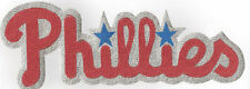 HUGE METALLIC PHILADELPHIA PHILLIES IRON-ON PATCH