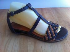 Ladies TIMBERLAND Brown Leather Sandals Size AUS 7.5 EU 38.5 Roman Tan