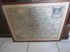 CARTE ANCIENNE BOURBONNAIS ENCADREE FLEURS DE LYS AMSTERDAMI R. OSMONT PARIS