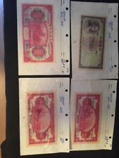 3 Pcs.~1914 SHANGHAI 10 YUAN UNCIRCULATED + 1937 5 YUAN