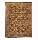 Antique 13X15 Indian Agra Rug Burgundy Hand-Knotted, circa 1880 (12.10 x 14.6)