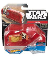 STAR WARS HOT WHEELS Rey's Speeder Vehicle & Flight Navigator Diecast