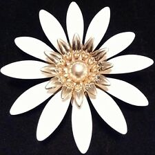 High End SARAH COV SIGNED Vintage Estate ENAMEL FLOWER Brooch PIN Jewelry LOT A