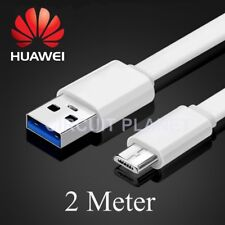 2m Micro USB Sync Charging Charger Cable Lead For Huawei P8 Lite (2017) Black