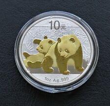 Panda 2010 -  silver gilded