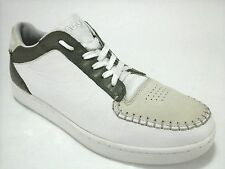 LACOSTE Revan Low Sneakers Shoes Mens White Green Leather US 10 M EU 43 $140
