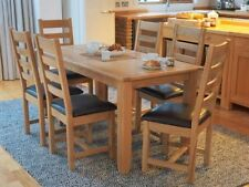 Oak Dining Room Country Up to 6 Seats Table & Chair Sets