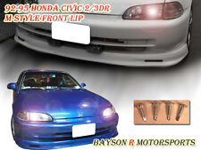 Mu-gen Style Front Lip (Urethane) Fits 92-95 Civic 2dr
