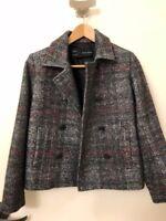 Zara Basic Plaid Blazer Jacket