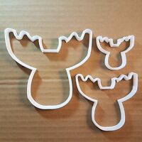 Moose Elk Deer Reindeer Shape Cookie Cutter Animal Biscuit Pastry Fondant Sharp