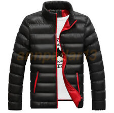 Men Winter Warm Cotton Padded Down Coat Slim Thick Casual Outerwear Parka Jacket