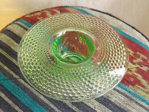 Art Deco Uranium Green Glass Posy Bowl  Design No2595 by James A Jobling & Co.