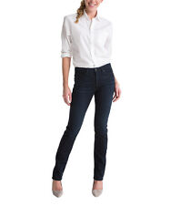 SPANX FD1114 The Slim-X Straight Jeans in Dark Dipped 26 New $148