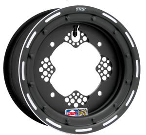 "DWT ROK'N LOK 2 Front Black Beadlock Rims Wheels 10"" 10x5 4+1 4/156 YFZ450 Rapto"