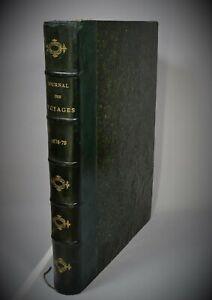 JOURNAL DES VOYAGES et des Aventures de Terre et de Mer 1878-1879 Relié Gravures
