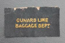 CUNARD WHITE STAR LINE RMS QUEEN MARY BAGGAGE DEPT GOLD WIRE STEWARD BADGE