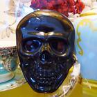 Betsey Johnson RARE Kitsch Sugar Skull Bag Black Hard Jelly Wristlet Handbag