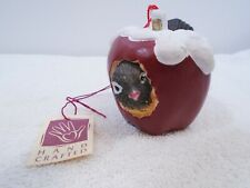 "Charming Tails ""Bird In Apple"" Chickadee Christmas Ornament Silvestri"