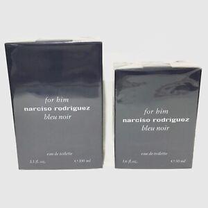 Narciso Rodriguez For Him Bleu Noir Eau de Toilette CHOOSE SIZE New Sealed Box!