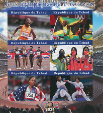 More details for chad 2021 mnh oiympics stamps tokyo 2020 games sports athletics 6v impf m/s