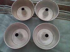 Lot/4 Vintage Miniature Angel Food Cake Pans/Molds-Aluminum-Play/Toy Food-GUC